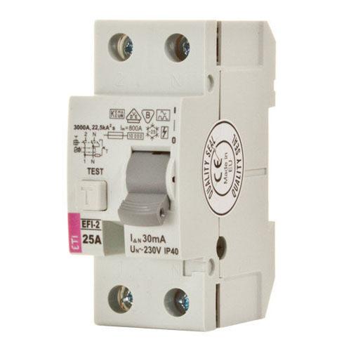 کلید قطع كننده محافظ جان ETI 1P+N 0.03 16A