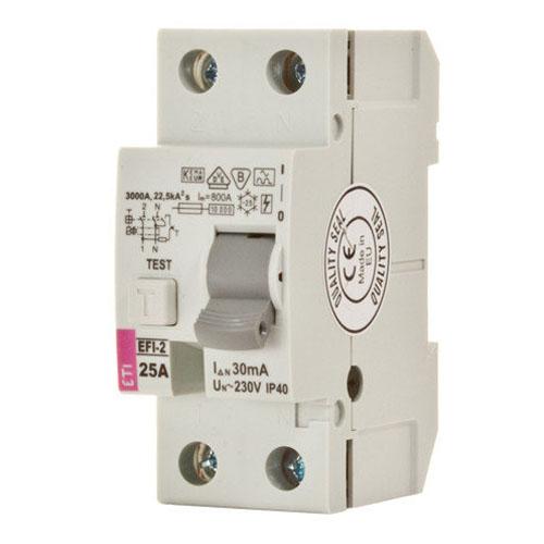 کلید قطع كننده محافظ جان ETI 1P+N 0.03 25A