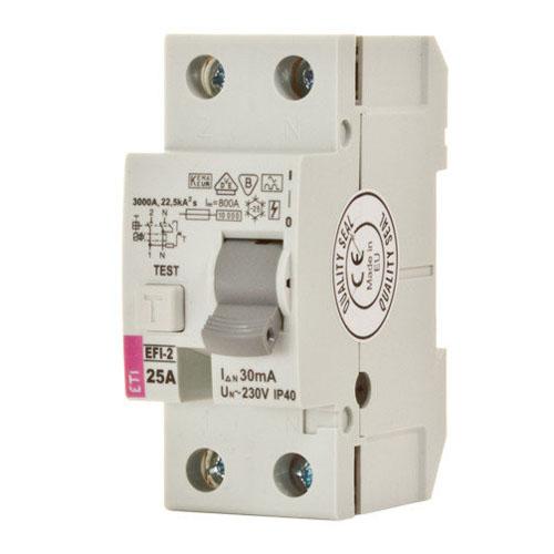 کلید قطع كننده محافظ جان ETI 1P+N 0.03 40A