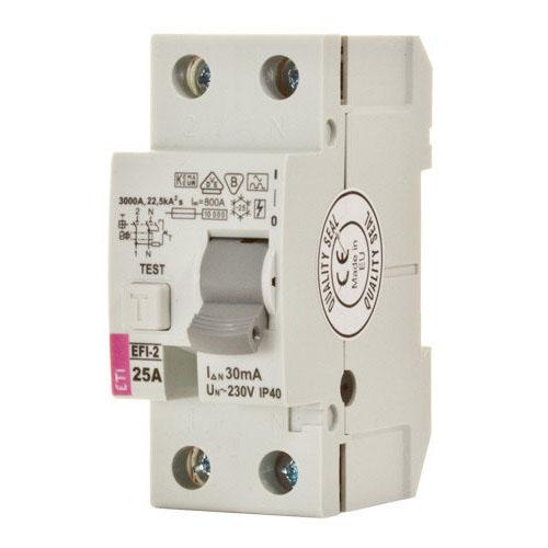 کلید قطع كننده محافظ جان ETI 1P+N 0.03 63A