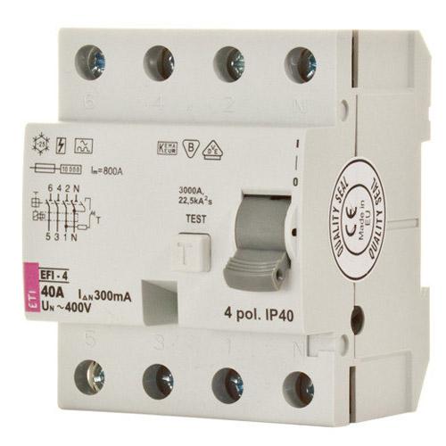 کلید قطع كننده محافظ جان ETI 3P+N 0.03 16A