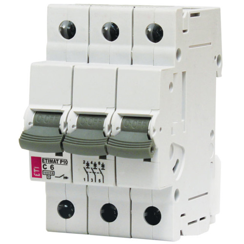 کلید مینیاتوری ETIMAT P10 C 6A 3P
